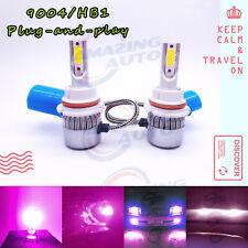 2020 NEW 9004 HB1 LED Headlights Bulbs Conversion Kit 50W 4500LM 14000K Purple