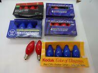 Kodak, Westinghouse + C9 1/4 Intermediate Vintage Outdoor Bulbs- Various Colors
