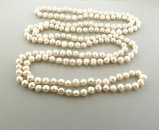 Fresh Water Pearl Neckace Long Strand 8 mm 62""