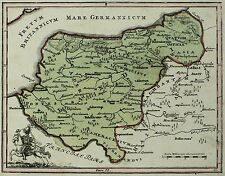 """Bélgica/Flandes - """"Flandria"""" - Gallia Belgica-Kolor. tarjeta de cobre para 1680"""