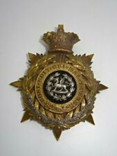 More details for antique victorian british army helmet plate badge - the south wales borderers