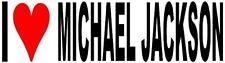 I Love Michael Jackson Vinyl Decal Sticker for Car/Window/Wall