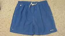 Façonnable Mens Solid Blue Swim Trunks Shorts Bathing Suit Mesh Liner Size XL