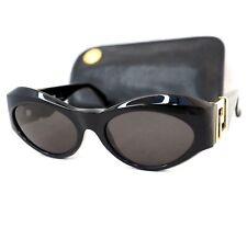 GIANNI VERSACE sunglasses T74 vintage oval gold baroque medusa head black medium
