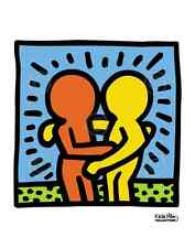KH05 by Keith Haring Art Print Dancing Hugging Hug Love Pop Poster 11x14