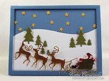 Impression Obsession SANTA'S SLED Die Steel DIE311-R Sleigh Reindeer Christmas