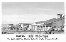 LAS VEGAS NV HOTEL LAST FRONTIER ENTRANCE LATE 1940'S RPPC P/C
