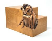 Artistic Weeping Lady Large Cremation Urn,Adult Funeral Urns for Ashes Memorial