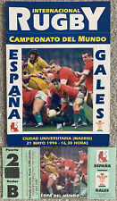 More details for spain v wales 1994 - with ticket