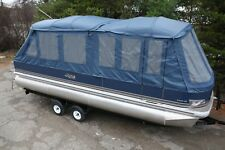 New 24  fish and fun Grand Island pontoon boat with full camper enclosure