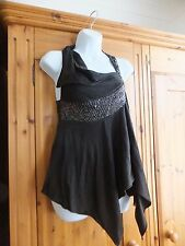 All Saints stunning brown beaded top  size 14