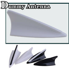 1x White Dummy Car SUV Shark Fin Roof Aerial Decorative Antenna  Decor Universal