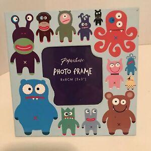 """Paperchase Monster Photo Frame 3""""x3"""" Children's Photo Frame for Boys"""