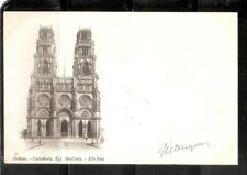 France - Orleans- Cathedrale, Egl. Ste-Croix. Vintage Post card