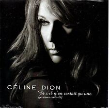 ☆ CD Single Celine DION Et s'il n'en restait qu'une 2-tr CARD SLEEVE NEW SEALED