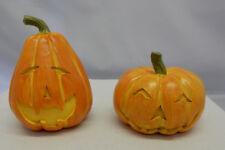 Set of 2 Miniature Jack 'O Lanterns Fairy Garden Pumpkins Figurines Halloween