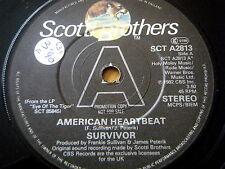 "SURVIVOR - AMERICAN HEARTBEAT  7"" VINYL PROMO"