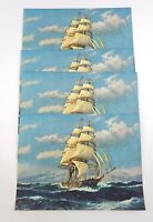Vintage Art Pirate Ship W. Hughes Reproduction Print Lot Of 4