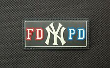 FDNYPD GITD PVC Patch FDNY NYPD New York City NYC Bravest Finest EMT Hook & Loop