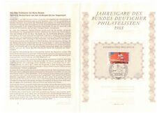 GERMANY DEUTSCHE BUNDESPOST 1988 SPORT PROMOTION FUND TENNIS NUMBERED LEAFLET
