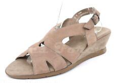 Womens MUNRO AMERICAN 212661 beige suede strappy wedge sandals sz. 12 M NEW!