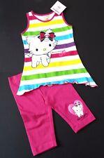 Sanrio CHARMMY KITTY 2tlg Zipfel Shirt & 3/4 Capri Skull Pink Weiß Gr. 104 NeU