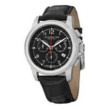 Stuhrling 717 02 Targa Courant Swiss Quartz Chronograph Black Dial Mens Watch