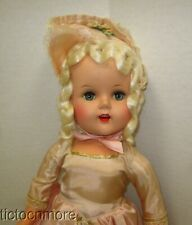 "Vintage Supermarket Grocery Store Doll Victorian Lady 19"" Hp Platinum Blonde"