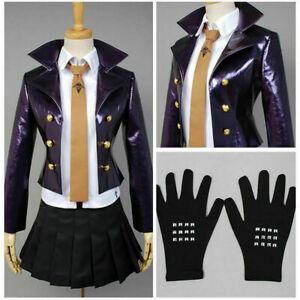 2021 Dangan-Ronpa Kyoko Kirigiri Cosplay Costume Dress Set With Gloves
