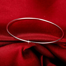 Wholesale 925 Sterling Silver Filled Layered Classic 1.5mm Solid Bangle Bracelet