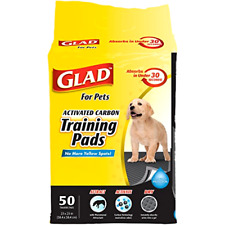 Glad for Pets Activated Carbon Dog Pee Pads | Best Puppy Pads For Absorbing Odor