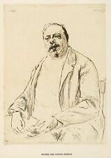 Hermann Struck-efigie del barón berger-aguafuerte 1906