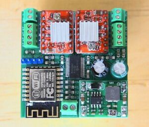 WiFi-controlled two stepper motors with ESP8266 kit. incl ESP-12F + 2x A4988