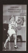 Bowdoin Polar Bears--1999-00 Basketball/Winter Sports Large Schedule