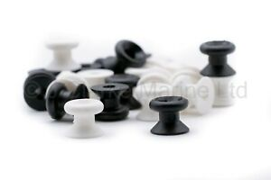 Black / White nylon lacing button mushroom bevel bungee shock cord canopy cover