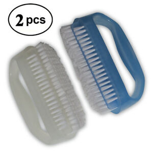 Finger Nail Hand Scrub Brush Cleaner Set For Cleaning Polish Manicure Pack of 2