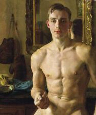 THE BOXER painting Gay Interest Konstantin Somov reproduction ART CANVAS PRINT