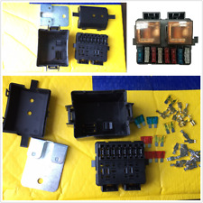 Universal 12V 2-Way Circuit Relay Fuse Box Holder Terminal Kits Automotive Black