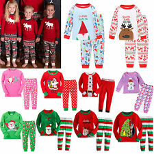 AU Kids Boys Girls Xmas Pj's Sleepwear Nightwear Christmas Pajamas Outfits Sets