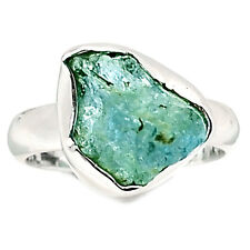 SSS AQRR246 Aquamarine Rough 925 Sterling Silver Ring Jewelry s.7