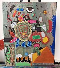 Mural On Stretched Canvas 16x20 Abstract Pop Art Water Based Paint
