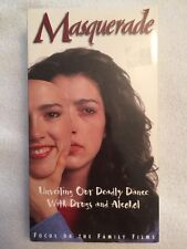 Masquerade (Prev. Viewed VHS) About teens & the war on drugs & alcohol RARE HTF!