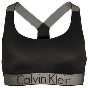 Calvin Klein Women Customized Stretch Bralette, Black