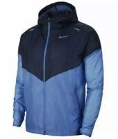 NIKE WINDRUNNER Mens Packable FZ Hooded Running Jacket CK6341-402 Blue SZ XL