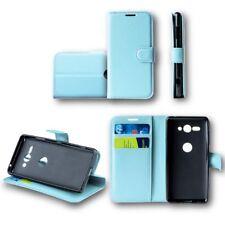 para Huawei Y6 2018 Cartera De Bolsillo Premium Azul Cubierta la caja sobres
