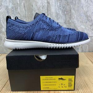 Cole Haan 2. Zerogrand Stitchlite Wingtip Oxford Size 9 Mens Marine Blue Grey