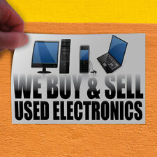 Decal Sticker We Buy & Sell Used Electronics Business Outdoor Store Sign White