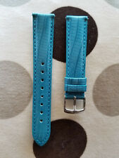 18mm Teju Lizard Turquoise Genuine Leather Watch Band,Strap, Interchangeable