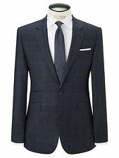 John Lewis Men's Blue Wool Glen Check Tailored Suit Jacket UK Size 44S £140 BNWT