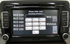 VW Radio Code Unlock Decode Service RCD510 RCD310 RNS315 Beta Gamma Alpha etc